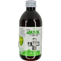Adusol Ayurvedic Syrup Withtulsi 200ml Relief From Cold,Sore Throat & Congestion