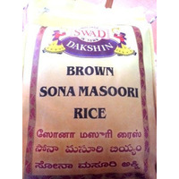 Swad Dakshin Brown Sonamasuri Rice 20 lbs