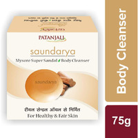 Patanjali Body Cleanser Soap Soundarya With Sandal Oil 75 gms