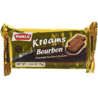 Parle Kreams Bourbon Artificially Chocolate Flavored Cookies 75 gms