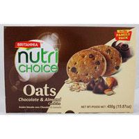 Britannia Nutri Choice- Oats Chocolate & Almond Cookies 450 gms