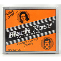 Black Rose 50grams Kali Mehndi Black Henna Herbal Hair dye Powder Free Shipping