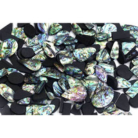 RARE !! 500Cts NATURAL ABALONE SHELL MIX CABOCHON LOOSE GEMSTONE