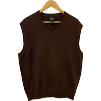 Jos. A. Bank Signature Collection Brown Sweater Vest - Medium
