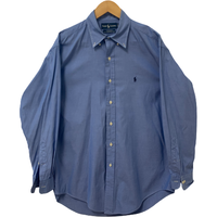 Ralph Lauren Blue Solid Mens Shirt Full Sleeves - 15 1/2 X 32/33