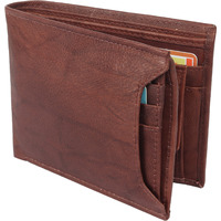 FIONA Mens Leather Bifold Wallet | Wallets For Men RFID Blocking | Genuine Leather | Extra Capacity Mens Brown Wallet |