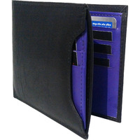 FIONA Mens Leather Bifold Wallet | Wallets For Men RFID Blocking | Genuine Leather | Extra Capacity Mens Purple Wallet |