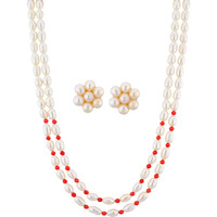 Fashion Women Jewelry Double String Royal Flora Necklace Set