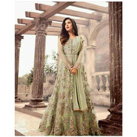 Womens Beautiful Heavy embroidred net ,Bollywood style party wear anarkali suit