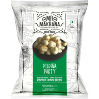 MR. Makhana Pudina Party - Flavored Makhana | Water Lilly Seeds | Popped Lotus Seeds