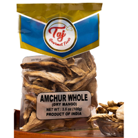 TAJ Premium Indian Amchur Whole Slices, Dried Mango, 100gm