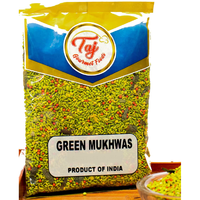 TAJ Premium Indian Green Mukhwas, Candied Fennel Seeds (Saunf), 400gm