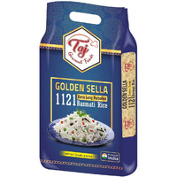 TAJ Gourmet Parboiled Golden Sella 1121 Basmati Rice, Extra Long Sela