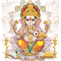 Indian God Ganesha Illustration Poster