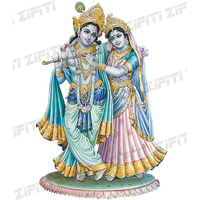 Indian God Radha Krishna Poster