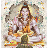 Indian Lord Shiva Colorful Illustration Poster