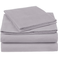 100% Cotton Sheet Set - 400 Thread Count (Piece:4 PIECE, Size:KING, Color:GREY)