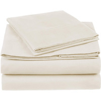 100% Cotton Sheet Set - 500 Thread Count (Piece:6 PIECE, Size:QUEEN, Color:TAUPE)