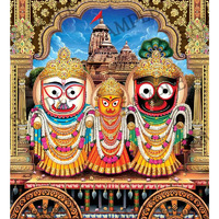 God Jagannath -  4x6 Inch Frame