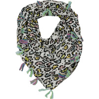 COLOR LEOPARD SCARF