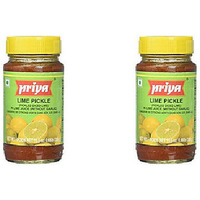 Pack of 2 - Priya Lime Pickle No Garlic - 300 Gm