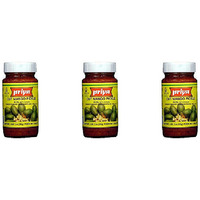 Pack of 3 - Priya Cut Mango Pickle With Garlic - 300 Gm