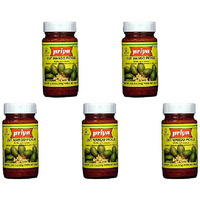 Pack of 5 - Priya Cut Mango Pickle With Garlic - 300 Gm