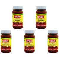 Pack of 5 - Priya Red Chilli Pickle No Garlic - 300 Gm