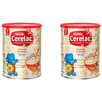 Pack of 2 - Nestle Cerelac 5 Cereals With Milk - 400 Gm