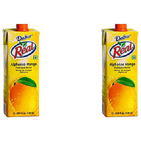 Pack of 2 - Dabur Real Alphonso Mango Juice - 1 Ltr
