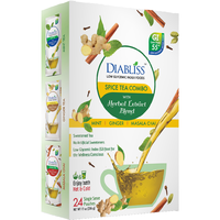 Spice Tea Premix Variety Pack - Low Glycemic Index - Masala Chai, Ginger & Mint