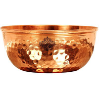 IndianArtvilla Copper Hammered Design Big Bowl|Diameter 4.5'' Inch