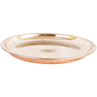 IndianArtVilla Steel Copper Serving Plate|Serveware & Dinnerware|7.5'' Inch