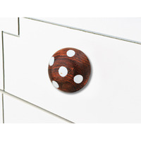 IndianShelf Handmade 10 Piece Wooden Orange Artistic Designer Drawer Knobs/Cabinet Pulls