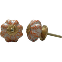 IndianShelf Handmade 10 Piece Ceramic Multicolor Sprinkled Decorative Dresser Knobs/Cabinet Pulls