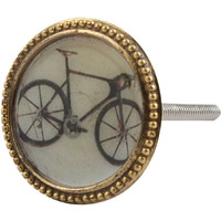 IndianShelf Handmade 14 Piece Iron Golden Bicycle Artistic Designer Drawer Knobs/Cabinet Pulls