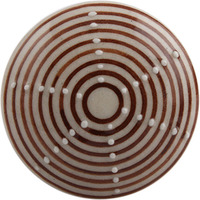IndianShelf Handmade 16 Piece Ceramic Brown Stripe Flat Artistic Drawer Knobs/Cabinet Pulls