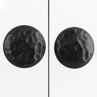 IndianShelf Handmade 16 Piece Ceramic Black Flat Solid Artistic Drawer Knobs/Cabinet Pulls