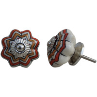 IndianShelf Handmade 16 Piece Ceramic Multicolor Floral Melon Decorative Room Drawer Knobs/Cabinet Door Pulls