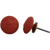 IndianShelf Handmade 20 Piece Ceramic Red Solid Home Decor Dresser Knobs/Wardrobe Cabinet Pulls