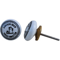 IndianShelf Handmade 20 Piece Ceramic White Morning Brew Fauna Decorative Room Drawer Knobs/Cabinet Door Pulls