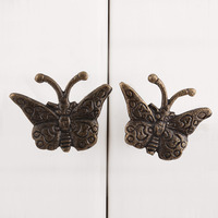 IndianShelf Handmade 7 Piece Iron Antique Butterfly Designer Drawer Door Knobs/Cabinet Pulls
