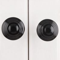 IndianShelf Handmade 9 Piece Ceramic Black Solid Rust Free Drawer Kitchen Knobs/Cabinet Pulls