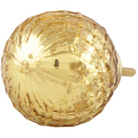 IndianShelf Handmade 13 Piece Glass Golden Dome Mercury Rust Free Drawer Kitchen Knobs/Cabinet Pulls