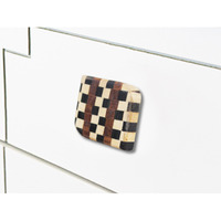 IndianShelf Handmade 17 Piece Wooden Multicolor Square Rust Free Drawer Kitchen Knobs/Cabinet Pulls