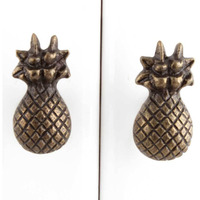 IndianShelf Handmade 17 Piece Iron Antique Pineapple Rust Free Drawer Kitchen Knobs/Cabinet Pulls