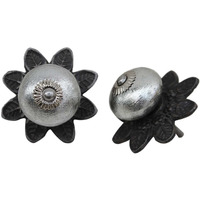 IndianShelf Handmade 21 Piece Ceramic Silver Protia Solid Rust Free Drawer Kitchen Knobs/Cabinet Pulls