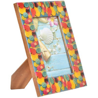 IndianShelf Handmade Multicolor MDF Button Photo/Picture Frame PF-96