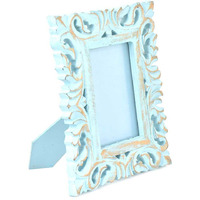 IndianShelf Handmade Turquoise Wood and Glass Photo/Picture Frame PF-68