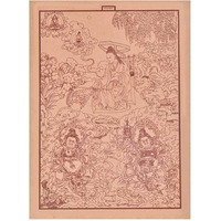 IndianShelf Handmade Paper Buddhistic Conception of Evil and Teachings of Buddha Prints/ Lithographs/ Wall Art PT-206